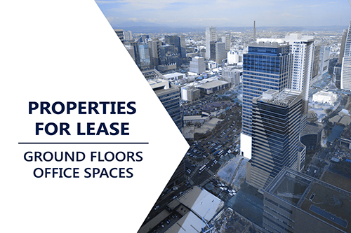 Properties for Lease: Ground Floors - Office Spaces