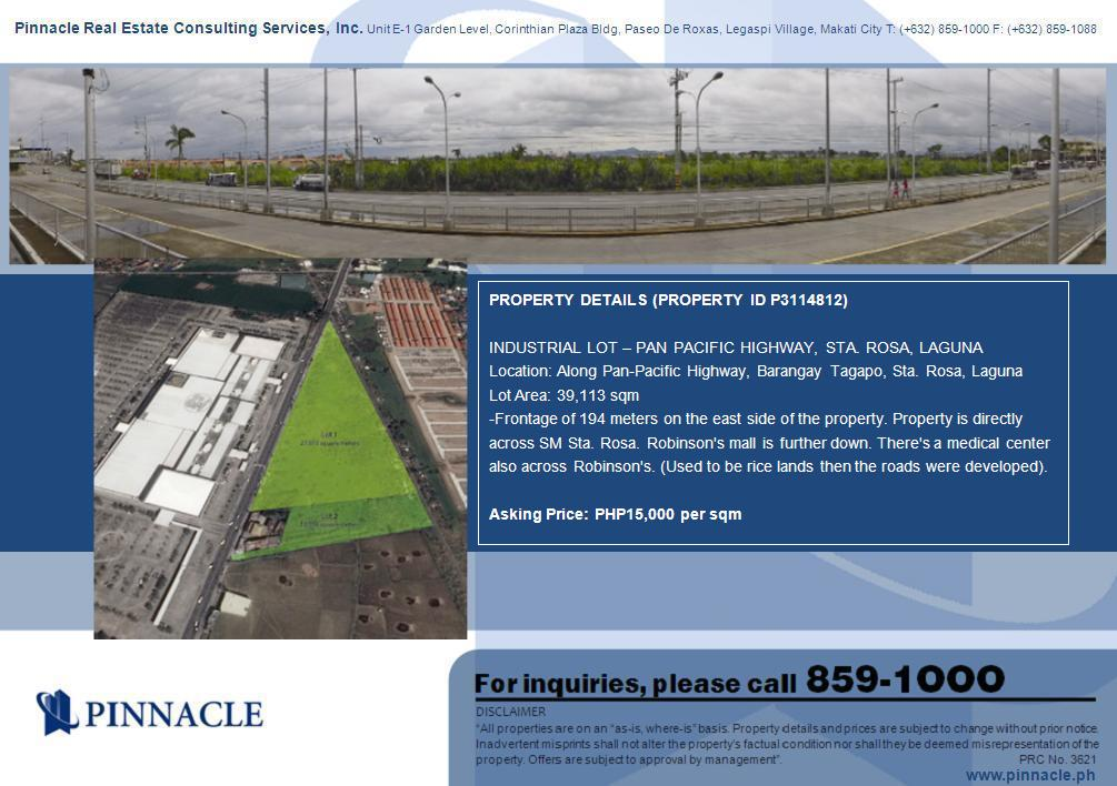 Vacant Lot in Tagapo Sta Rosa, Laguna For Sale - 3.9 Hectare