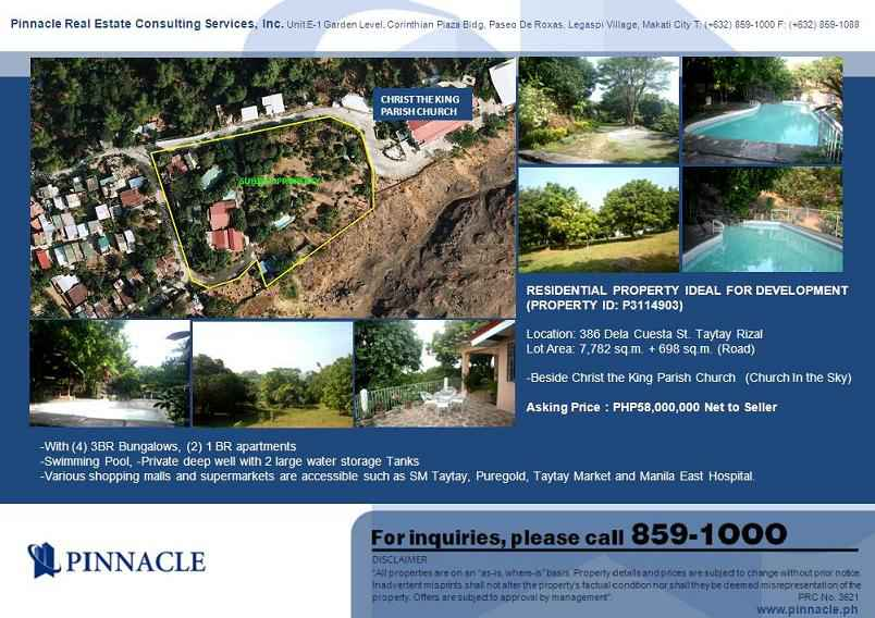 Lot with Improvement in Alabang-zapote Rd Taytay, Rizal For Sale - 8480 Sqm