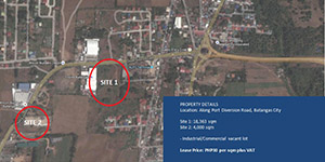 Vacant Lot in Diversion Road Batangas City For Lease - 4000 Sqm