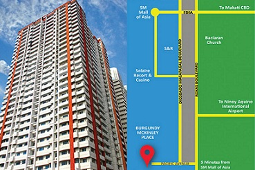 Condo in Burgundy Mckinley Place, Paranaque City For Sale - 61 Sqm