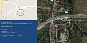 Vacant Lot in Daang Hari Cor. Anabu  Imus, Cavite For Sale - 1.3 Hectare