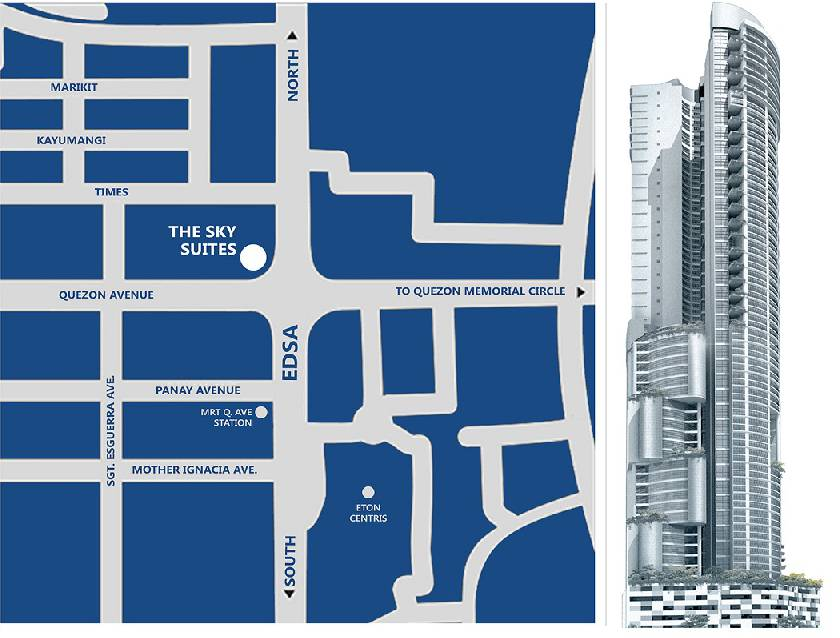 Corporate Office Space in SkySuites Tower, EDSA cor Quezon Avenue