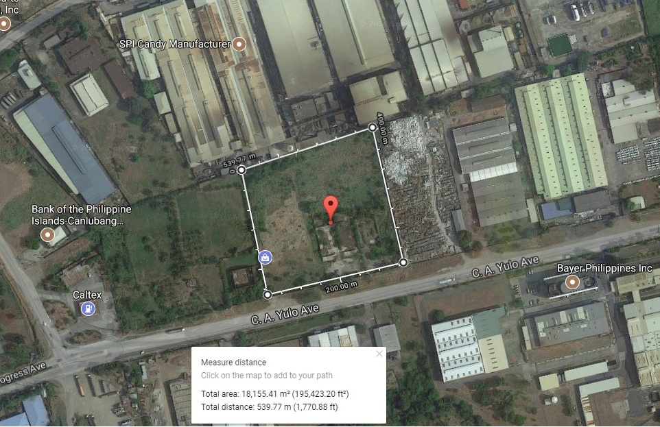 Vacant Lot in Silangan Industrial Park Calamba City, Laguna For Lease - 1.9 Hectare